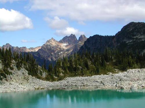 A view from Lewis Lake on the...