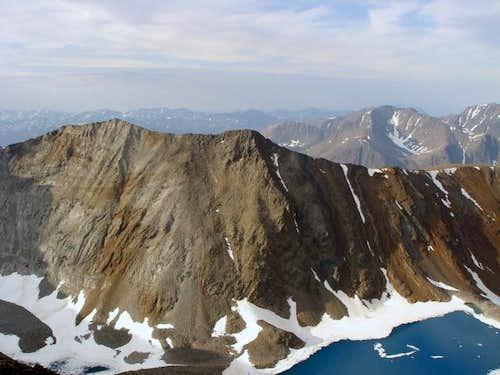Mt. Erhart with Ice Blue Tarn...