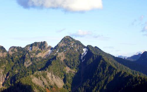 Fletcher Peak (Canyon Peak) from Green Mountain