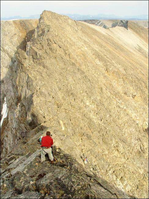 Descending the Minaret ridge.