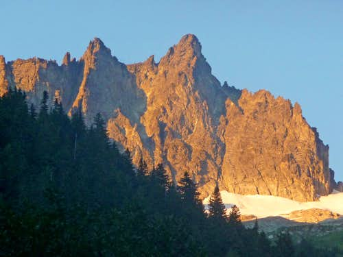 Evening Light on Mount Torment
