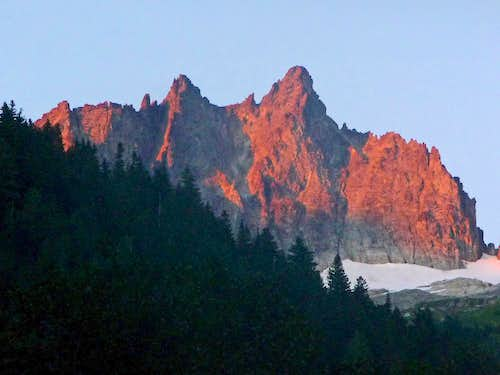 Alpenglow on Mount Torment