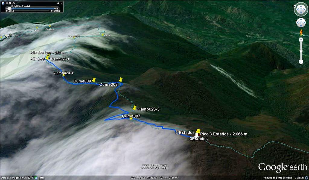 Sierra Fina traverse info sat view 5