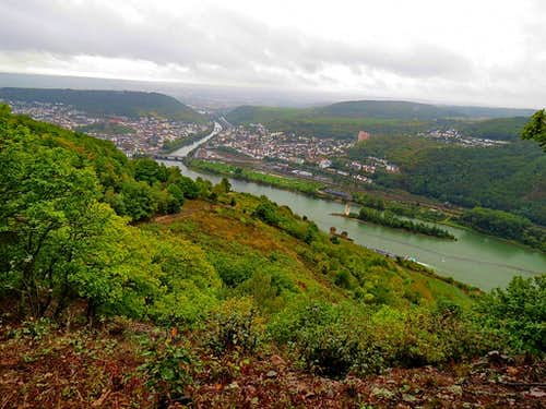 Looking down to River Rhine