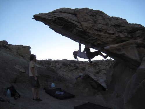 Bouldering at Sunset