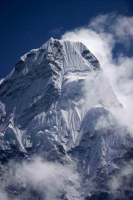 Ama Dablam peak in the...
