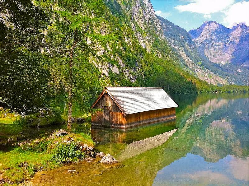 Little boat-house on Lake Obersee
