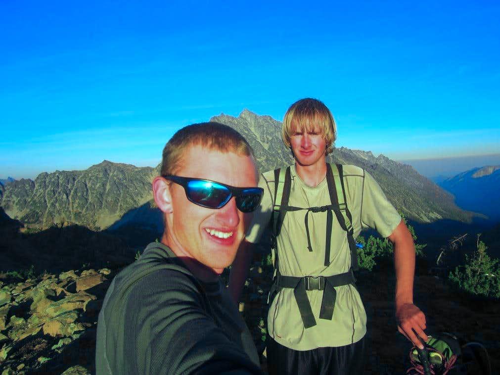 Fletcher and I on Fortune Peak