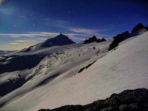 Eldorado and the Inspiration Glacier at Night