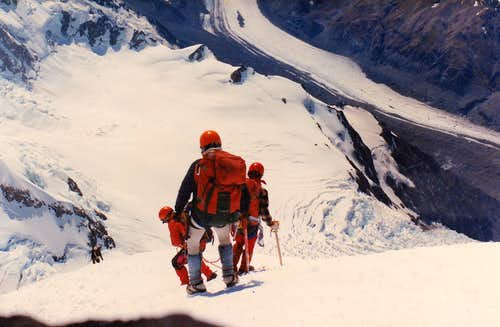 Descending from Mt Cook 1984
