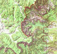 Map of Rim Trail