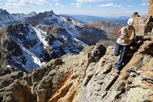 Scramble on SW ridge