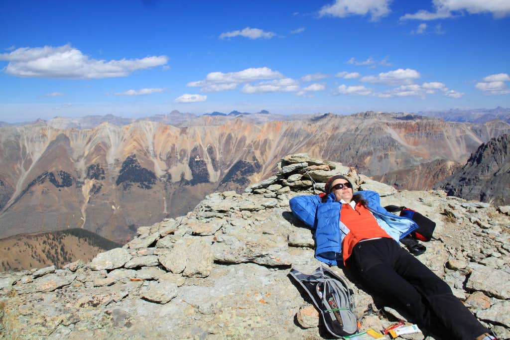 Napping on the summit