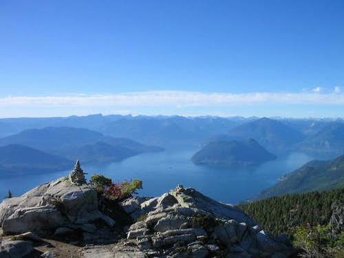 The view out over Howe Sound.