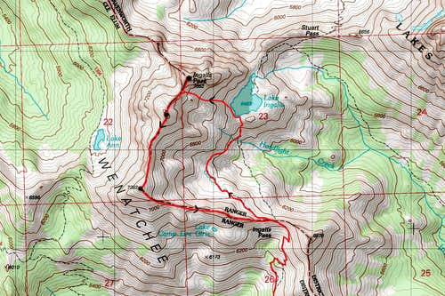 North Ingalls Loop Map