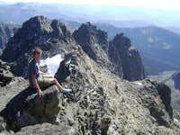 Hangin out on the summit of Mt Cowen-Absaroka Range MT