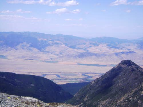 Yellowstone River-Seen from the summit of Mt Cowen