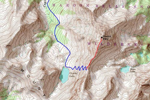 Mount Daly Map