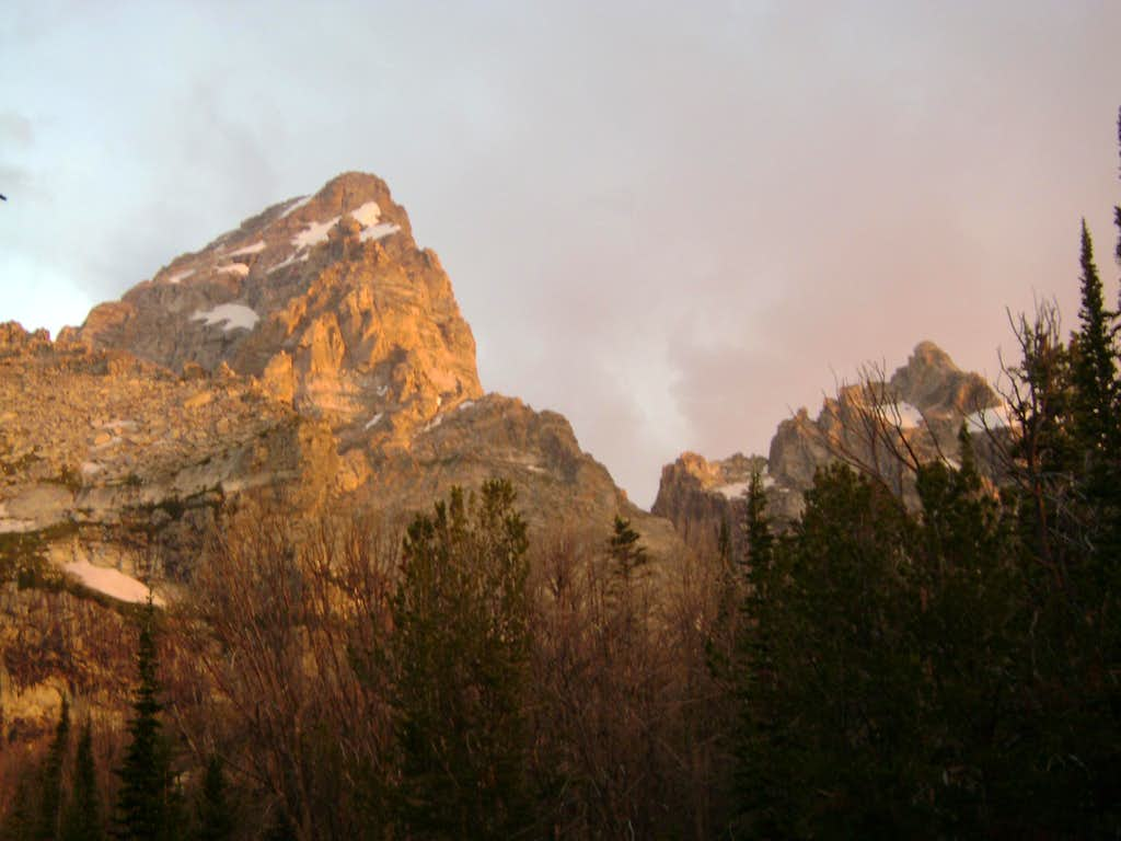 The Grand Teton and Mount Owen-Early morning light