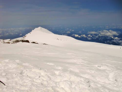 View from the summit of Mount Rainier