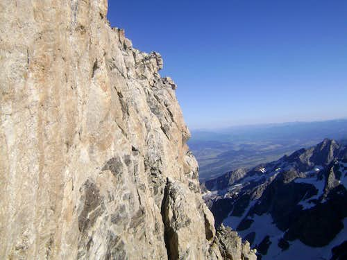 The Exum Ridge seen from the Upper Saddle of the Grand Teton