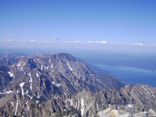 Mount Moran-Seen from the summit of the Grand Teton