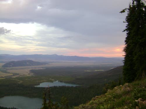 Sunset on the way to Garnet Canyon and the Grand Teton