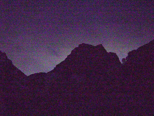 The Middle Teton at night