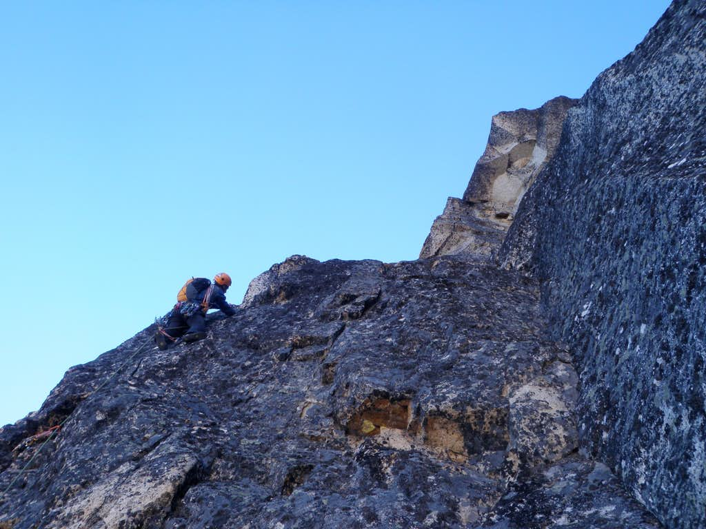 East Face (Action Potential) of Burgundy Spire
