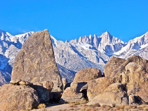 Shark\'s Fin and Mount Whitney
