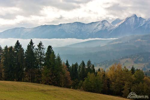White Tatras from Lapszanka pass