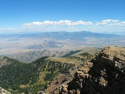 The Oquirrh range from the...