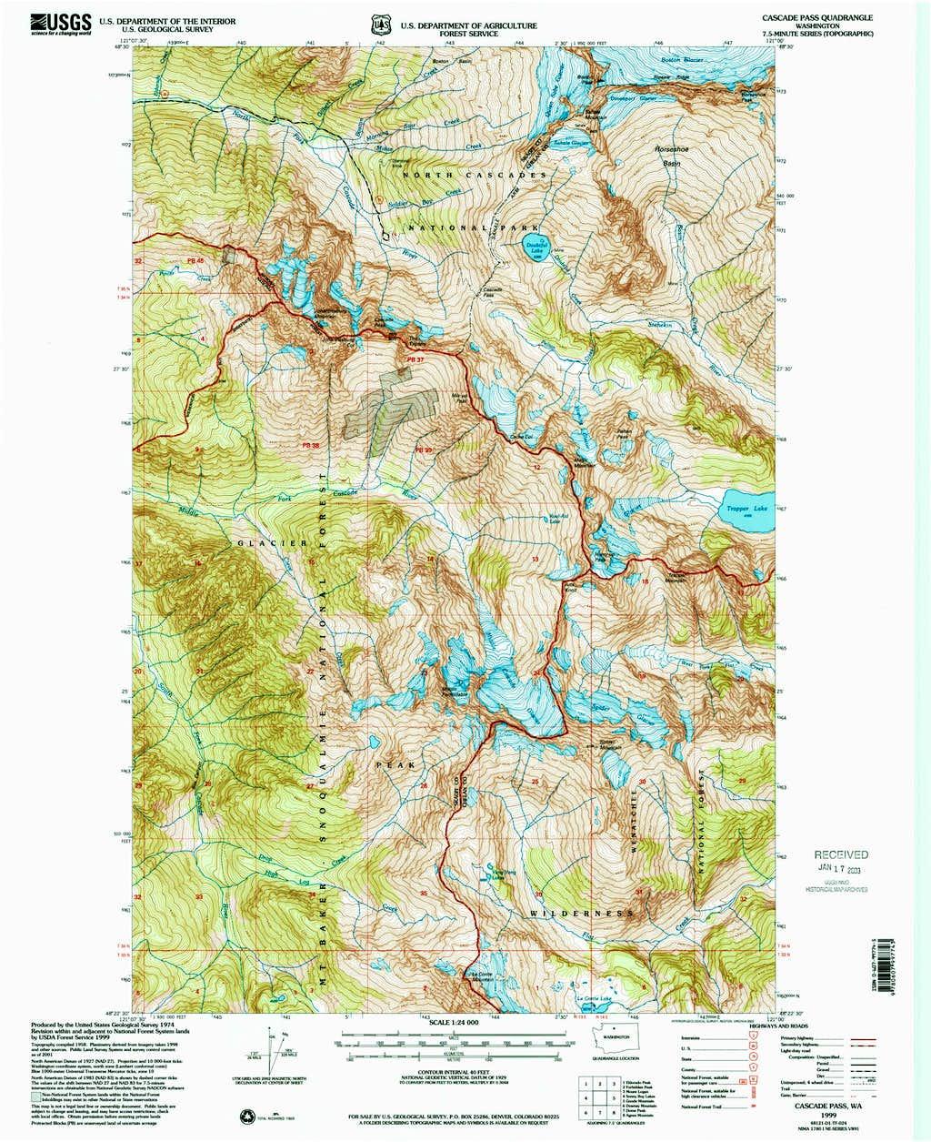 Cascade Pass Topo