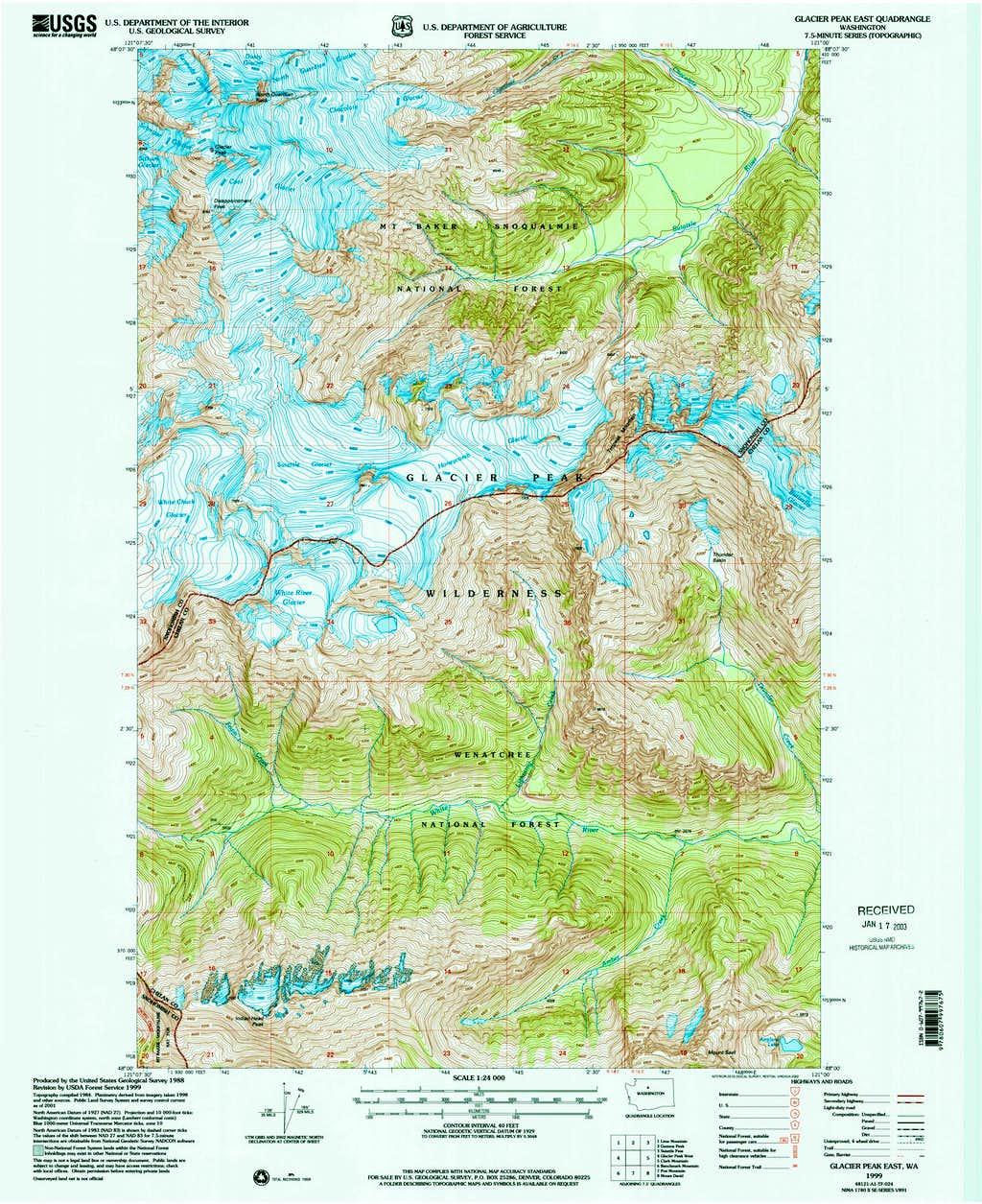 Glacier Peak East Topo