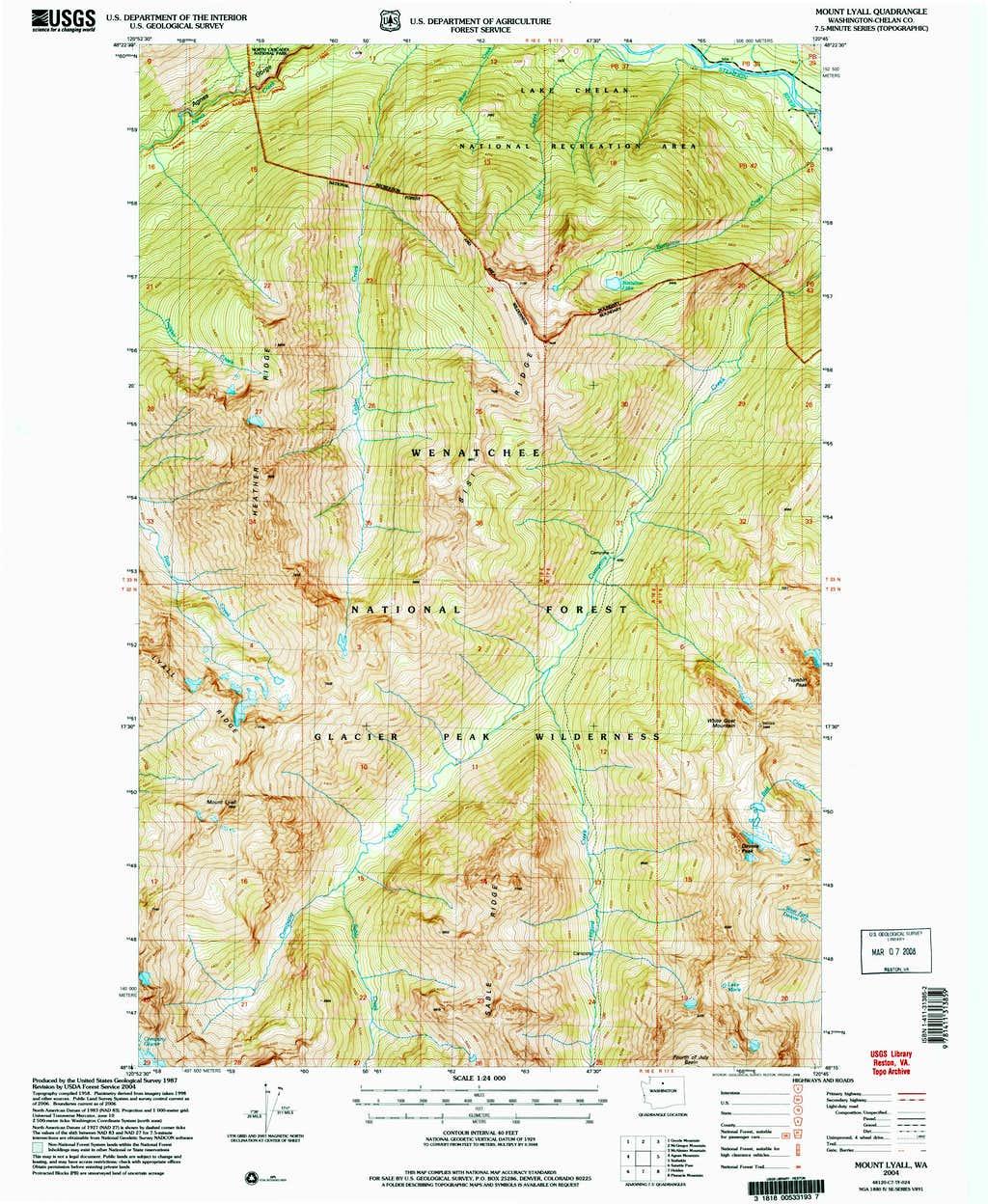 Mount Lyall Topo