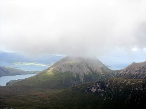 Glamaig from the Cuillin Ridge