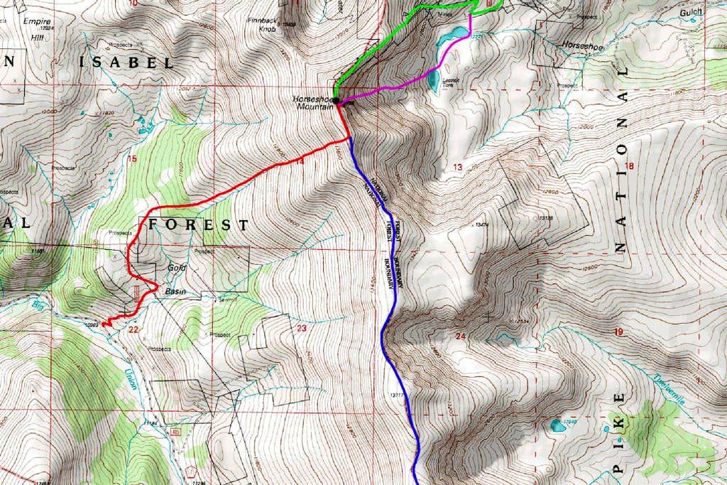 Horseshoe Mountain South Map