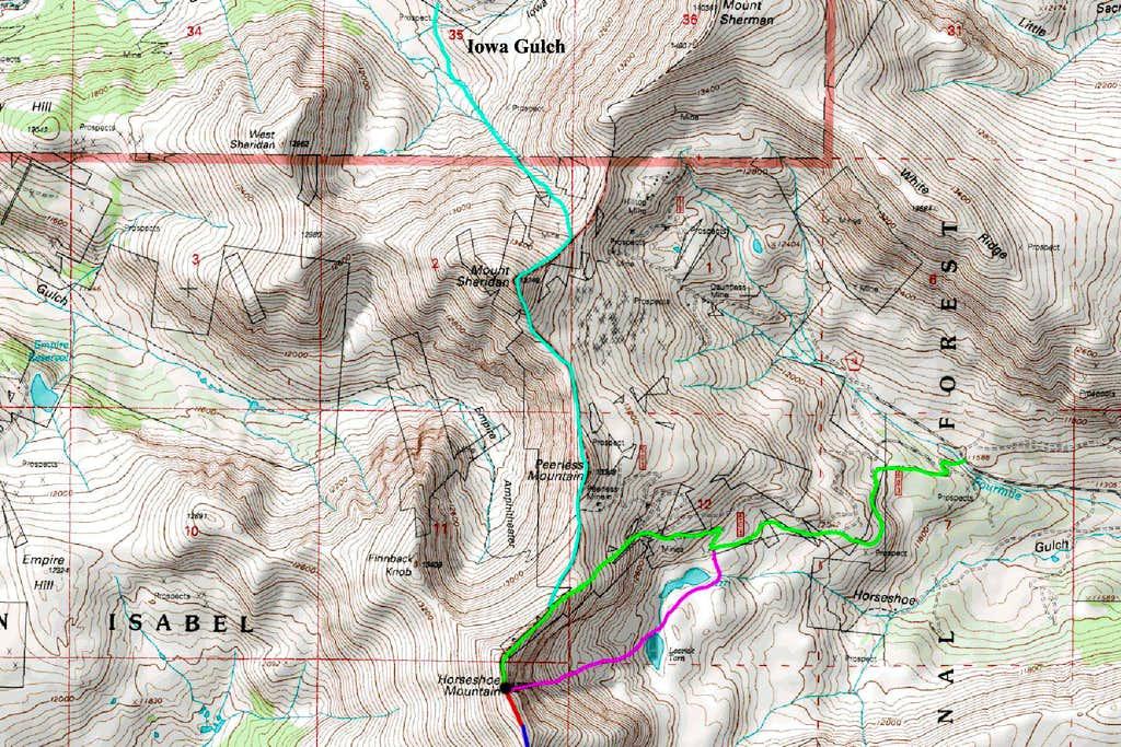 Horseshoe Mountain North Map
