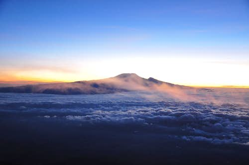 Kili from the top of the Mt.Meru