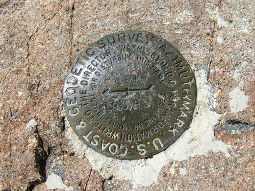 Flagstaff Mountain witness marker