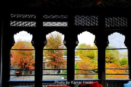 Autumn View from Khaplu Fort Baltistan Pakistan
