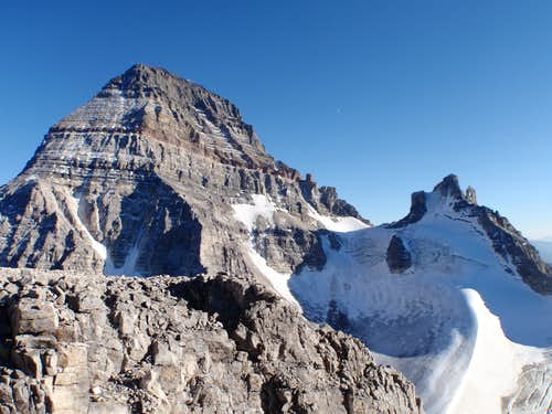 Mt. Assiniboine (l) and Mt. Sturdee (r)