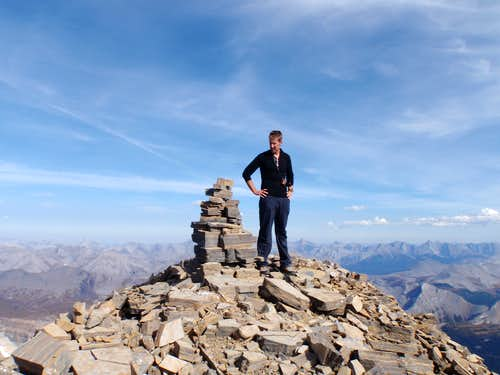 Summit Cairn on Lunette Peak