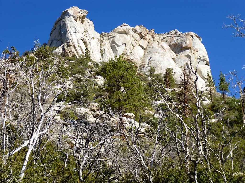 South face of Rockhouse - closeup