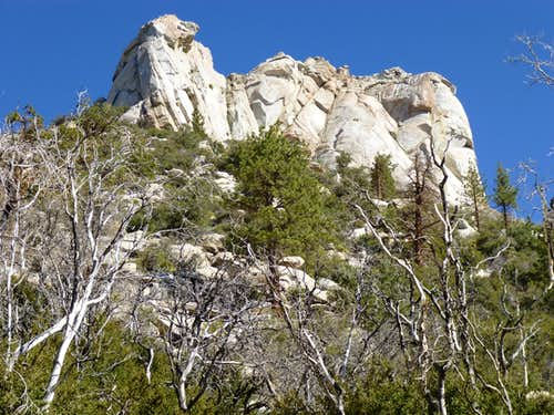 South face of Rockhouse - closeup