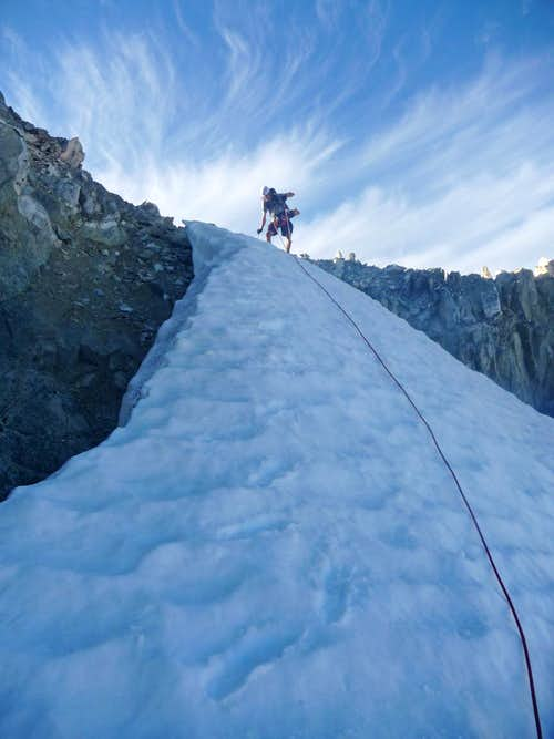 Matt Down Climbing