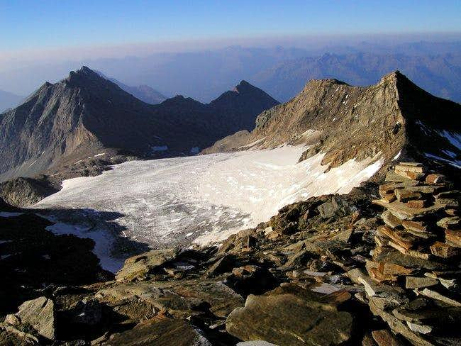 On the left the ridge of...