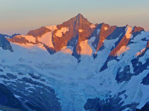 Alpenglow on Northwest Face of Forbidden Peak