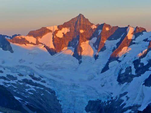 Alpenglow on Northwest Face of Forbidden Peak
