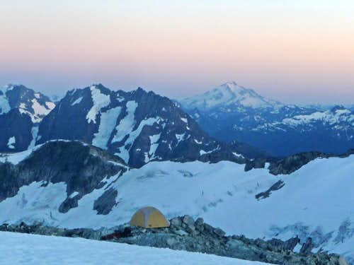 Camp with Johannesburg and Glacier Peak